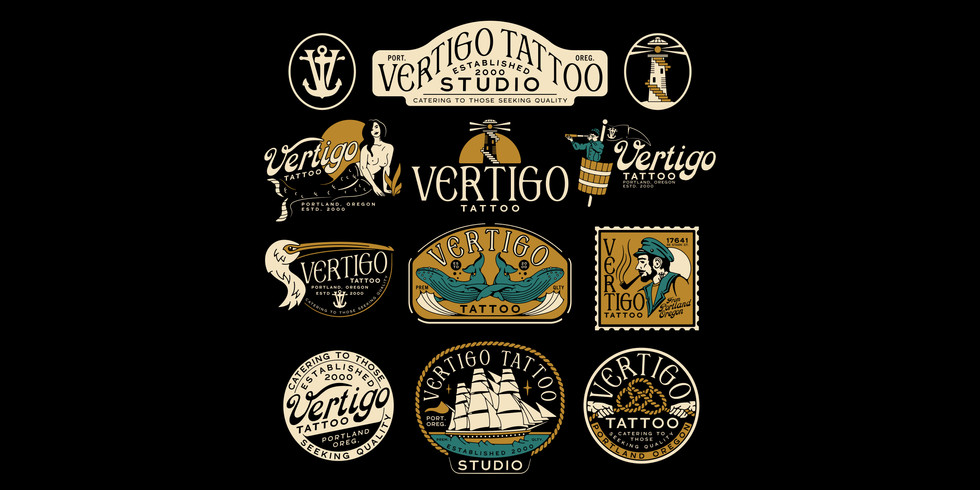 Vertigo Tattoo - Branding - Full Set Dar