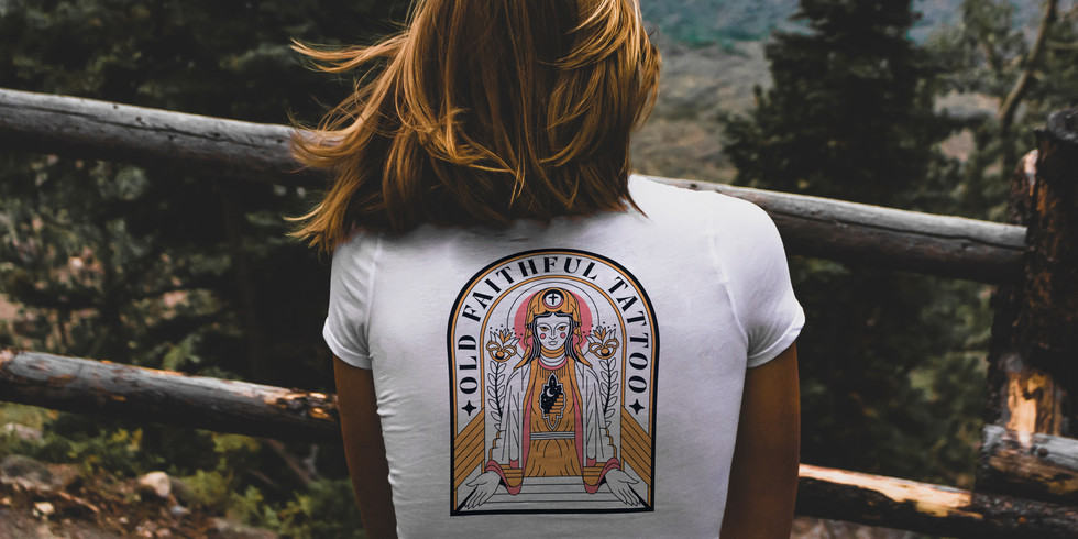Old Faithful Tattoo - Mock Up - Shirt Ba