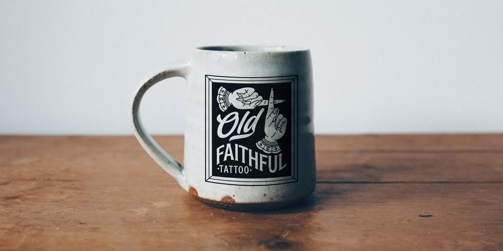 Old Faithful Tattoo - Mock Up - Mug - We