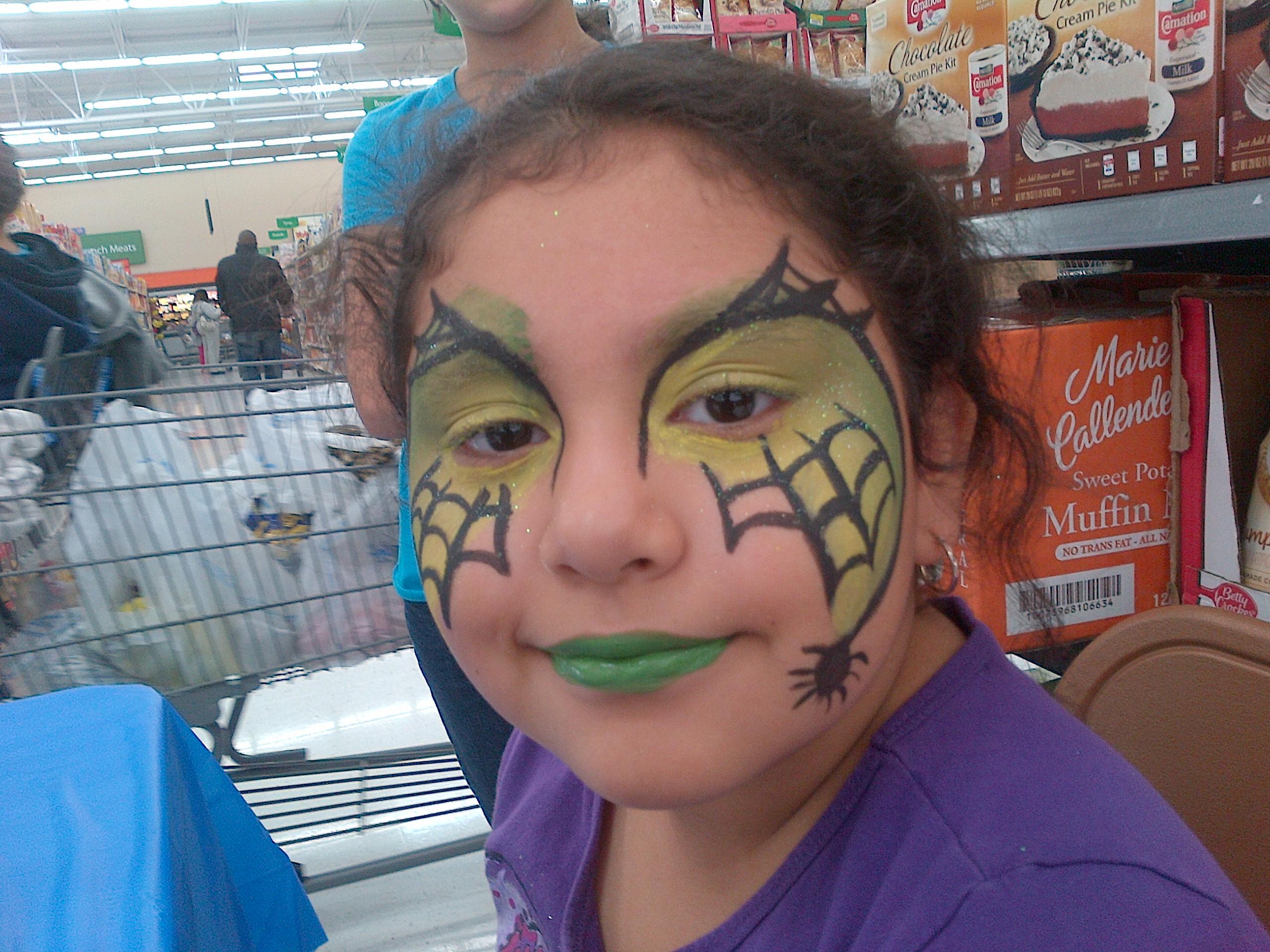 Face Painting Webbed Beauty