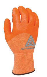 Ansell Sz 9 Orange ActivArmr Knitted 3/4 Dipped Cut Resistant Gloves