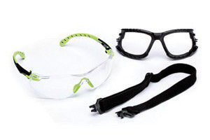 3M  Solus  1000 Series Kit With Green And Black Polycarbonate Safety Glasses