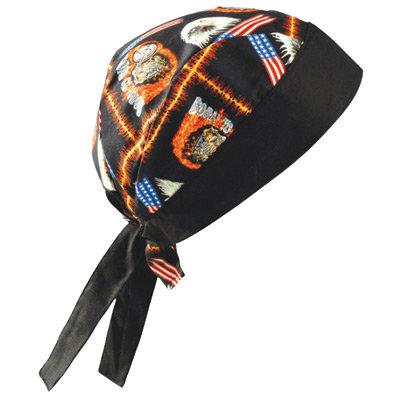 OccuNomix Motorcycle Tuff Nougies 100% Cotton Doo Rag Tie Hat