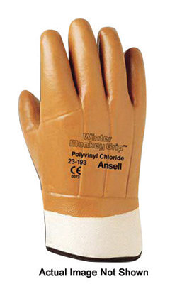 Ansell Size 10 Fluorescent Orange Winter Lined Gloves