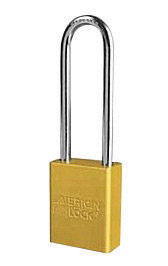 "American Lock Yellow 1 1/2"" X 3/4"" Aluminum Safety Lockut Pad Lock"