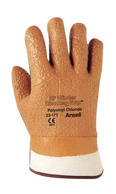 Ansell Size 10 Orange Winter Monkey Grip Lined Gloves