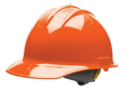 Bullard Orange HDPE Cap Style Hard Hat w/6 Pt. Rachet Suspension
