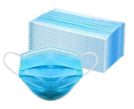 *** IN STOCK *** 3-Ply Disposable Face Masks (50-pack)