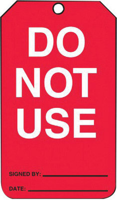 """5 3/4"""" X 3 1/4"""" 10 mil PF-Cardstock Status Tag DO NOT USE"""