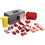Brady Gray, Red & Yellow Electrical Lockut Toolbox Kit