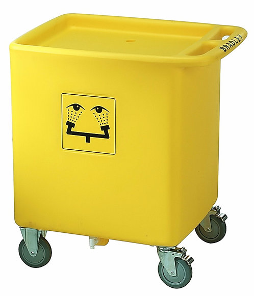 """Bradley  33"""" X 29 3/4"""" X 22 1/8"""" On-Site Portable Safety Waste Water Cart"""