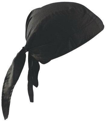 OccuNomix Black Tuff Nougies 100% Cotton Deluxe Doo Rag Tie Hat