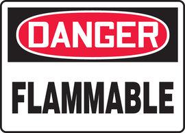 "10"" X 14"" Adhesive Vinyl  DANGER FLAMMABLE"