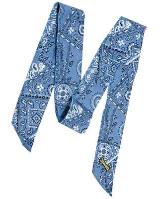 OccuNomix Cowboy Blue Miracool  100% Cotton Neck Bandana