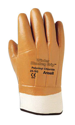 Ansell Size 10 Orange Winter Lined Gloves