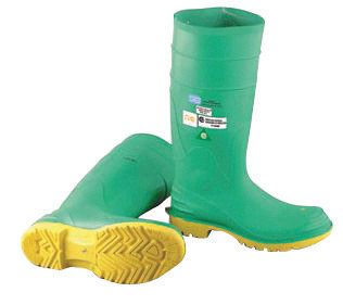 "Onguard Industries Size 11 Hazmax  Green 16"" PVC Knee Boots"