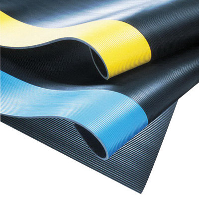 "NoTrax 2' X 75' Black 1/4"" Thick PVC Series 830 Insulative"