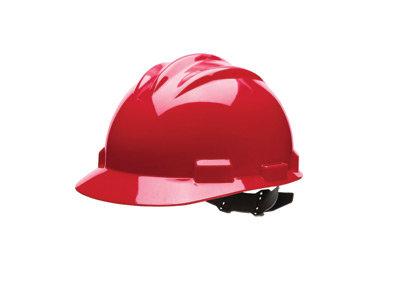 Bullard Red HDPE Cap Style Hard Hat w/4 Pt. Rachet Suspension