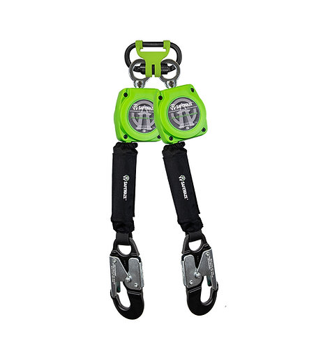 6' Web Dual Leg Retractable with Aluminum Snap Hooks & FS1014 BWB