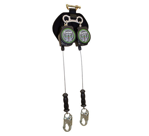 11' Dual Leg Leading Edge Cable Retractable with Steel Snap Hooks