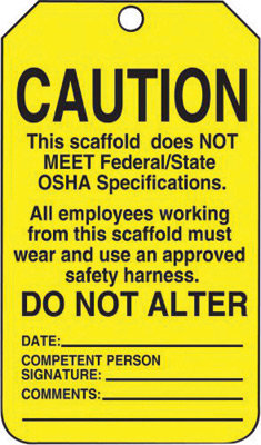 """5 3/4"""" X 3 1/4"""" 10 mil PF-Cardstock  CAUTION THIS SCAFFOLD DOES NOT MEET"""