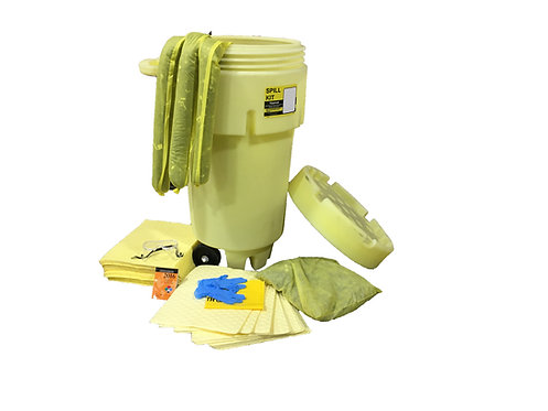 50 Gallon Hazmat Spill Kit With Wheeled Drum