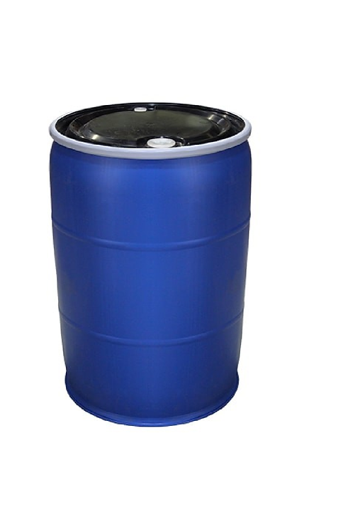 55 Gallon Reconditioned Poly Blue Drum