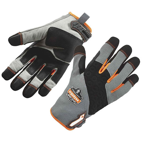 Ergodyne Medium Black/Gray/Orange ProFlex Tena-Grip  Full Finger