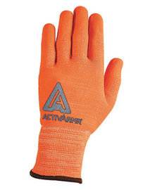 Ansell Sz 10 PowerFlex Orange MD Cut Resistant Gloves