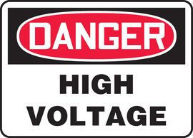 "7"" X 10"" Adhesive Vinyl DANGER HIGH VOLTAGE"