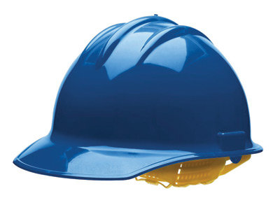 Bullard Blue HDPE Cap Style Hard Hat w/6 Pt. Rachet Suspension