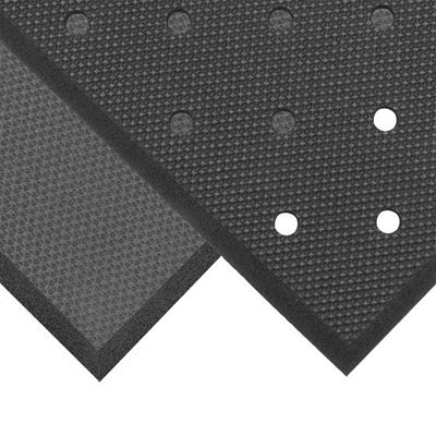 "NoTrax 3' X 3' Black 5/8"" Thick PVC Nitrile Foam Superfoam"