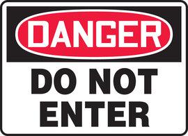 "10"" X 14"" Aluminum DANGER DO NOT ENTER"