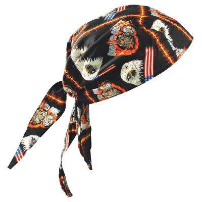 OccuNomix Motorcycle Tuff Nougies 100% Cotton Deluxe Doo Rag Tie Hat
