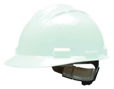 Bullard White HDPE Cap Style Hard Hat w/4 Pt. Pinlock Suspension