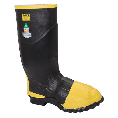 "Servus  By Honeywell Size 8 TurtleBack  Black 16"" Rubber Boots"