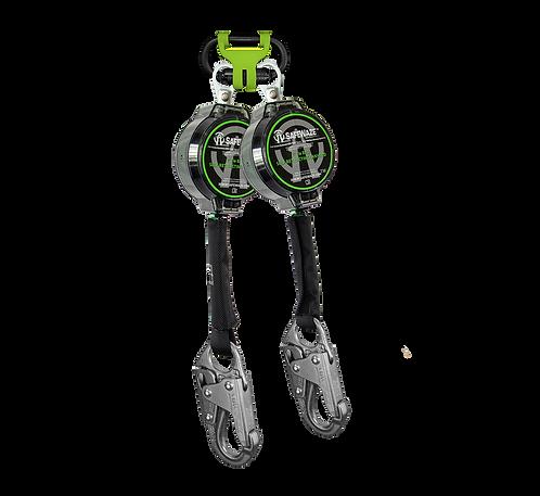 7' Dual Leg Web Retractable with Steel Snap Hooks & 1014 BWB