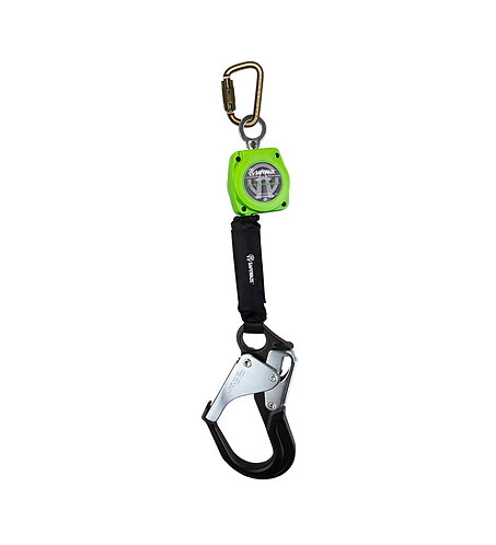 6' Web Retractable with Aluminum Rebar Hook & Steel Carabiner