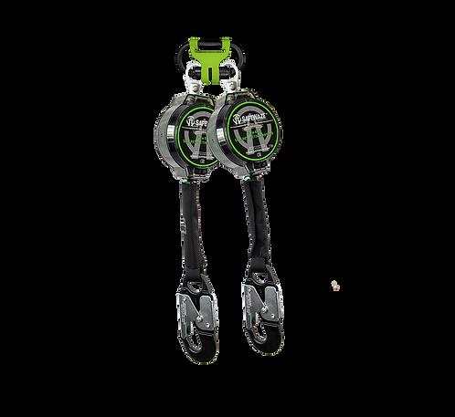 7' Dual Leg Web Retractable with Aluminum Snap Hooks & 1014 BWB