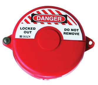 """Brady Red Injection Molded Poly Mini Gate Valve Lockut With 3/8"""" Shackle"""