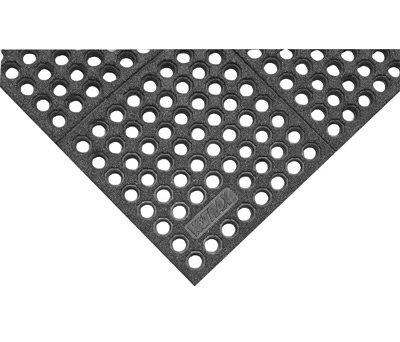 "NoTrax 3' X 3' Black 3/4"" Thick Nitrile Rubber Niru Cushion Ease"