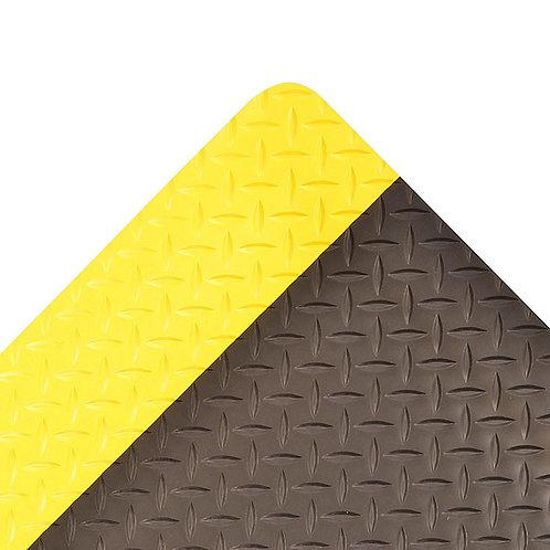 "2"" X 75"" Yellow And Black 3/4"" Thick Vinyl 975 Cushion Trax  Ultra"
