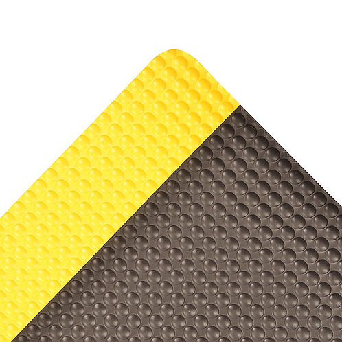 "2"" X 3""  Yellow And Black 1/2"" Thick Vinyl  482 Bubble Trax"
