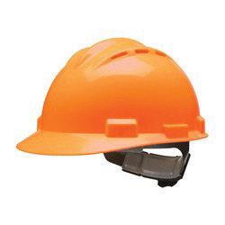 Bullard Orange HDPE Cap Style Hard Hat w/4 Pt. Rachet Suspension