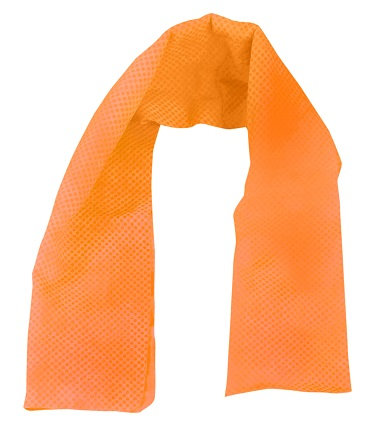 """OccuNomix 29 1/2"""" X 14"""" Orange Miracool  Light Weight Cooling Towel"""