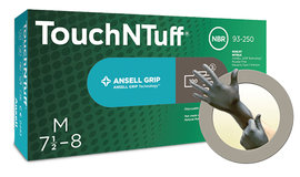 Ansell Size 8 Gray Anthracite TouchNTuff 5.5 mil Silicone Free Gloves