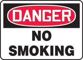 """10"""" X 14"""" Adhesive Vinyl DANGER NO SMOKING"""