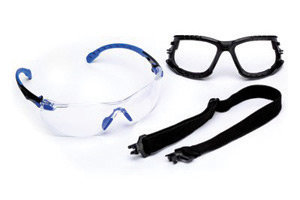 3M  Solus  1000 Series Kit With Blue And Black Polycarbonate Safety Glasses