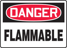 "7"" X 10"" Plastic  DANGER FLAMMABLE"