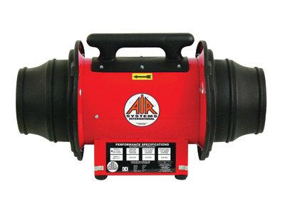 """ASI 10"""" 1390 cfm 1/3 hp 115 VAC 60 Hz Steel Standard In-Line Electric Fan"""